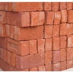L Rectangular Red Bricks, Size: 6