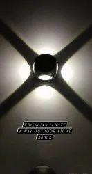 Kblu Surface Led Four Way Light, 3*4watt