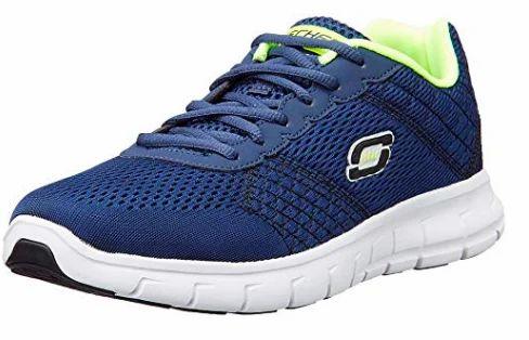 Skechers Men's navy/lime running shoes