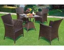 Wicker Cane Chair Set