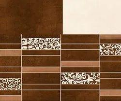 SakarMarbo Brown Ceramic Digital Wall Tile 300_600mm Sugar Series 7031 for Hotel