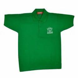Cotton Male Green School T Shirt, 3 Year