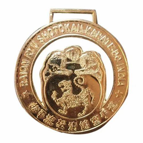 Golden Plated Custom Medal