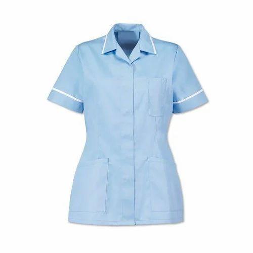 5fb281f570c Light Blue Nurse Tunic, Rs 400 /piece, Vaibhav Uniform Care   ID ...