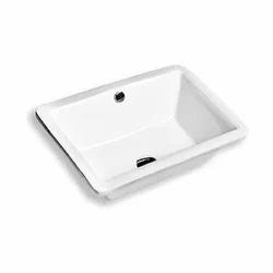 White Ceramic Under Counter Basin