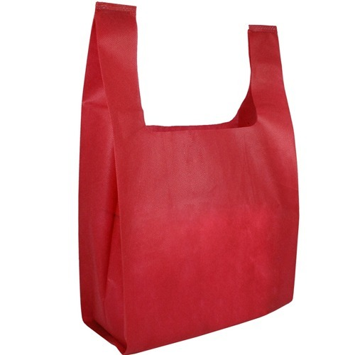Red Non Woven Carry Bag