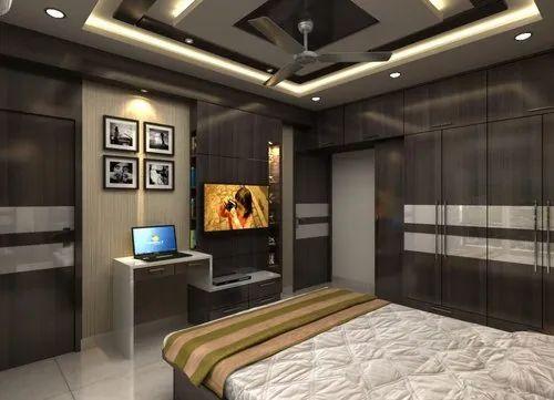 Bedroom Interiors Design Work in Kolkata, Baranagar by Inland