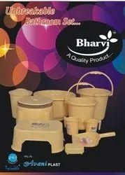 Bharvi unbreakable Plastic Bathroom set, Single Pic Box Packing