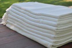 MEERA'S Handmade White Cotton Dohar Set