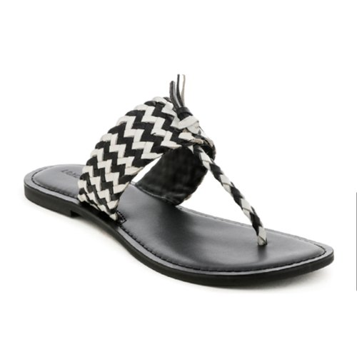 1be97436218 London Rag Black White Weaved Thong Sandal at Rs 330  pair