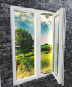 White Residential Upvc Casement Window, Glass Thickness: 5-10 Mm