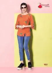 Watermelon Daimond Party-2 Girl For Fancy Rayon Printed Short Tops Collection