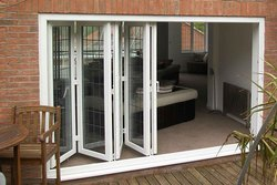 White Sliding UPVC Fold & Slide Doors, Balcony, 4 - 22 Mm