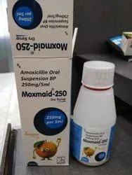 MOXMAID-250 Antibiotic Amoxicillin Oral Suspension 250mg/5ml, Packaging Type: Bottle