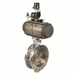 Carbon Steel Lined Pneumatic Shut Off Butterfly Valve