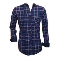 Casual Wear Cotton Full Sleeves Check Shirts, Size: Small, Medium, Large, XL
