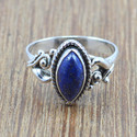 BEAUTIFUL 925 STERLING SILVER JEWELRY LAPIS LAZULI GEMSTONE RING WR-5016