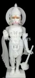 White Marble Standing Hanuman Statue