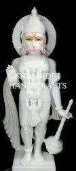 White Marble Standing Hanuman Statue