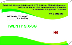 Calcitriol Omega-3 Fatty Acid EPA and DHA Methylcobalamin Folic Acid Boron Calcium Carbonate Vitamin