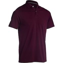 Cotton Plain And Printed Mens Polo T Shirt