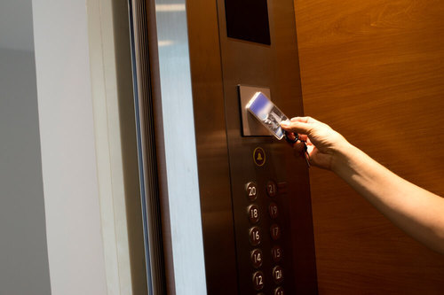 Automatic Lift Access Control System With Floor Wise Programming Of Card