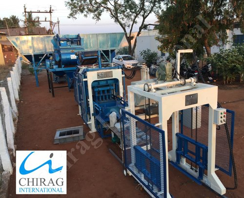 Solid Hydraulic Pressure Chirag Multi Raw Material Interlocking Block Making Machine, Capacity: 1000-1500 per hour