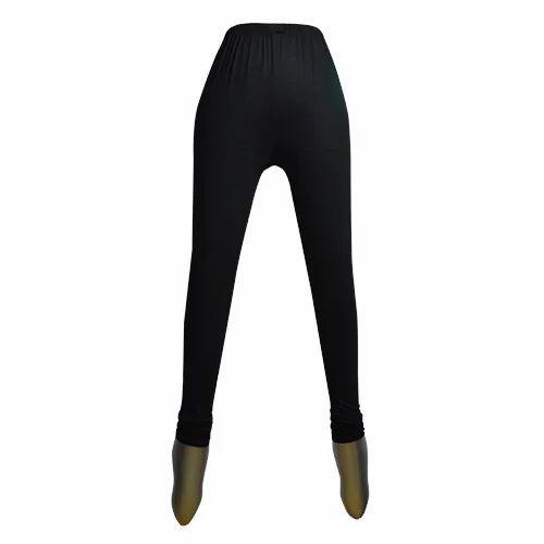 4e07e636cc7da1 Black Cotton Lycra Womens Deluxe Churidar Legging, Size: Free Size ...