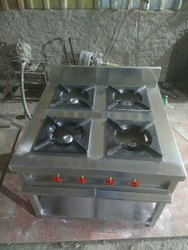 Stainless Steel Four Burner Gas Stove for Kitchen