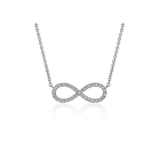 Love infinity diamond pendant necklace true diamond jewels india love infinity diamond pendant necklace mozeypictures Choice Image
