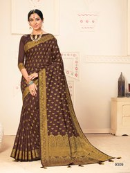 Cotton Silk Weaving Saree With Blouse Piece