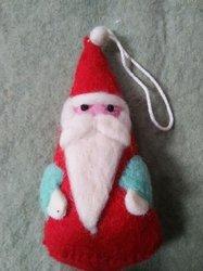 Felt Christmas Handmade Santa Figure Tree Ornament