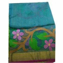 Krishnachura Party Wear Jamdani Cotton Saree, With blouse piece