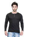 Men''s Henley Neck T-Shirt