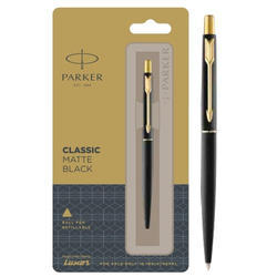 Quink Flow Ball Point Refill Parker Classic Matte Black Refillable Ball Pen With Gold Trim