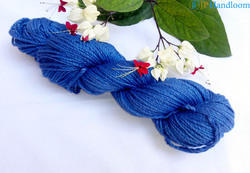 Ink Blue Soft Cotton Hand Dyed Yarn 2 ply