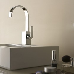 Stainless Steel Flat Spout Bathroom Faucet
