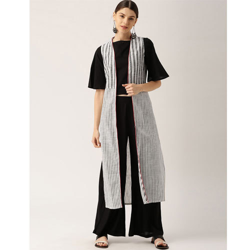 8dace35b50 Cotton Black And White Palazzo Suit, Rs 900 /set, Nandani Creation ...