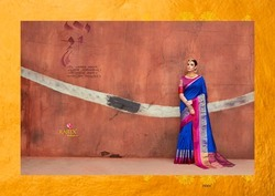 Silk Handloom Saree, Length: 6.3 m