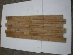 Teak Sandstone Ledger Panel