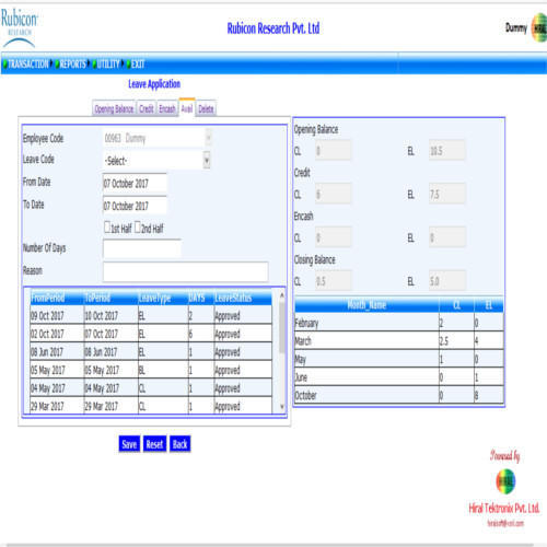 Leave Management Software Service Provider from Mumbai
