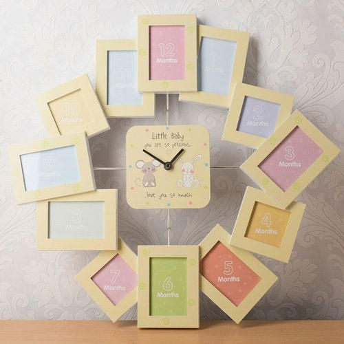 Baby First Year Photo Frame Clock