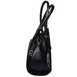 Black Pu Leather Ladies Stylish Shoulder Bag