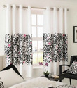White And Black Polyester Designer Curtains, Shape: Vertical , For Window & Door