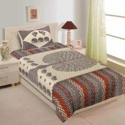 Barmeri Print Cotton Single Bed Sheet