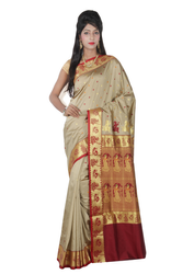 Baluchari Handloom Silk Saree ( CM2606, Tussar )