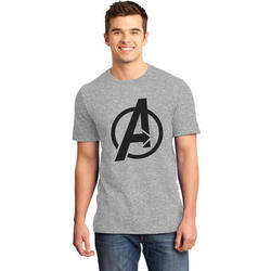 Mens Grey Cotton T Shirt