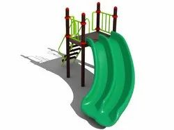 Green PVC Swimming Pool Wave Slide