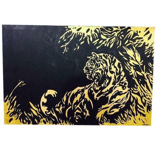 Lion Abstract Acrylic Painting