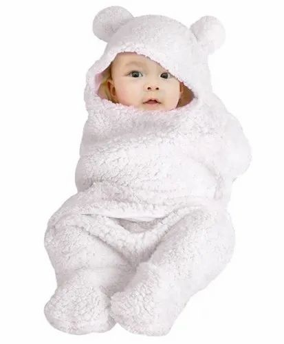 Double Layered Hooded Swaddle Wrapper / Baby Blanket, Age